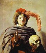 Youth with skull by Frans Hals