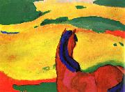 Franz Marc Horse in a Landscape oil painting reproduction