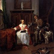Gabriel Metsu The Hunter s Gift oil painting artist