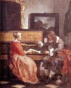 Gabriel Metsu Man and Woman Sitting at the Virginal oil painting artist
