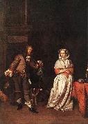 Gabriel Metsu The Hunter and a Woman oil painting artist