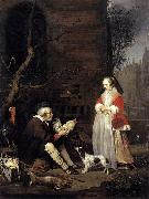 Gabriel Metsu The Poultry Seller oil painting artist