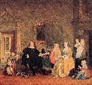 The family of Jan Jacobsz Hinlopen just before the youngest and his wife Leonora Huydecoper van Maarsseveen died
