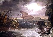 Oil painting of the East Indiaman