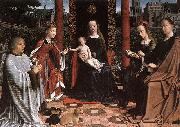 Gerard David The Mystic Marriage of St Catherine oil painting reproduction