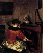 Gerard ter Borch the Younger The Concert oil painting reproduction