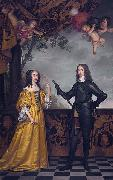 Willem II (1626-50), prince of Orange, and his wife Maria Stuart
