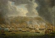 The assault on Algiers by the allied Anglo-Dutch squadron