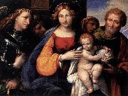 Girolamo di Benvenuto Virgin and Child with Saints Michael and Joseph oil painting