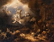 Govaert Flinck Angels Announcing the Birth of Christ to the Shepherds oil painting