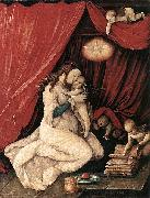 Hans Baldung Grien Virgin and Child in a Room oil painting