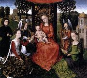 Hans Memling The Mystic Marriage of St Catherine oil painting reproduction