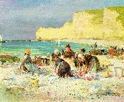 Henry Bacon Etretat oil painting