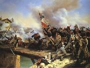 Napoleon Bonaparte leading his troops over the bridge of Arcole