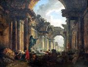 Imaginary View of the Grand Gallery of the Louvre in Ruins