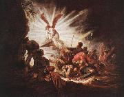 Jacob Gerritsz Cuyp The Angel Is Opening Christ's Tomb oil painting reproduction