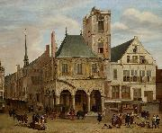 Jacob van der Ulft The old town hall oil painting