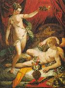 Jacopo Zucchi Amor and Psyche oil painting