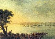 Catherine II leaving Kaniow in 1787.