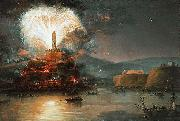 Fireworks in honor of Catherine II in 1787.