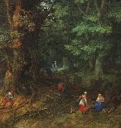 Jan Brueghel The Rest on The Flight into Egypt oil painting reproduction