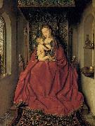 Jan Van Eyck Suckling Madonna Enthroned oil painting reproduction