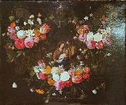 Garland of Flowers with the Holy Family
