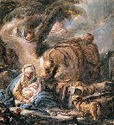 Jean-Baptiste Deshays The Flight into Egypt oil painting reproduction