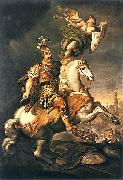 Jerzy Siemiginowski-Eleuter John III Sobieski at the Battle of Vienna oil painting artist