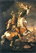 Jerzy Siemiginowski-Eleuter John III Sobieski at the Battle of Vienna. oil painting artist