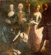 Engagement of Maria Josepha Grafin von Waldburg-Friedberg-Scheer (1731 - 1782) and her cousin, Prince Joseph Wenzel von Furstenberg (1728 - 1783) in 1