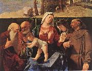 Lorenzo Lotto Madonna and Child with Saints oil painting reproduction