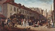 Louis-Leopold Boilly The Arrival of the Diligence oil painting artist