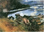 Lovis Corinth Walchensee bei Mondschein oil painting reproduction