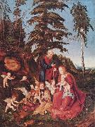 Lucas Cranach The Rest on The Flight into Egypt oil painting reproduction