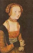 The Princesses Sibylla, Emilia and Sidonia of Saxony (Detail of portrait of Sidonia
