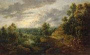 Lucas van Uden Landscape with Hunters oil painting