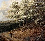 Lucas van Uden Wooded Landscape oil painting