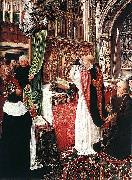 MASTER of Saint Gilles The Mass of St Gilles oil painting