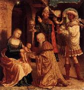 Master of Ab Monogram The Adoration of the Magi oil painting reproduction