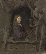 Michiel van Musscher Self-portrait. oil painting reproduction