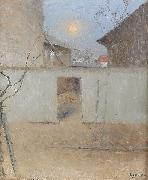 Nils Kreuger April Evening oil painting on canvas