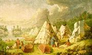 Indian encampment on Lake Huron