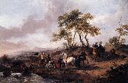 Philips Wouwerman Halt of the Hunting Party oil painting reproduction