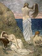 Pierre Puvis de Chavannes Young Girls on the Edge of the Sea oil painting artist