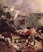 Pieter Bruegel the Elder Landscape with the Fall of Icarus oil painting reproduction