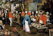 Pieter Brueghel the Younger Peasant Wedding Feast oil painting reproduction