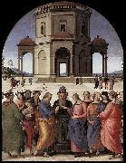 Pietro Perugino Marriage of the Virgin oil painting reproduction