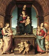 Pietro Perugino The Family of the Madonna oil painting