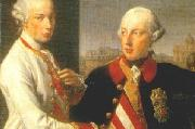 Portrait of Emperor Joseph II (right) and his younger brother Grand Duke Leopold of Tuscany (left), who would later become Holy Roman Emperor as Leopo